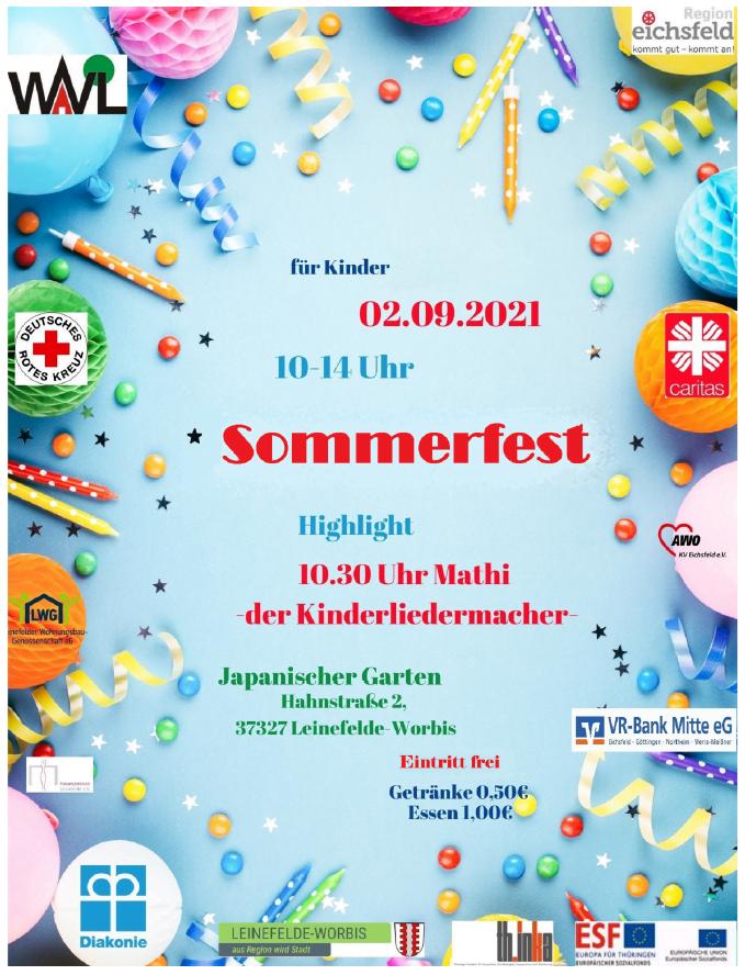 Sommerfest am 02.09.2021